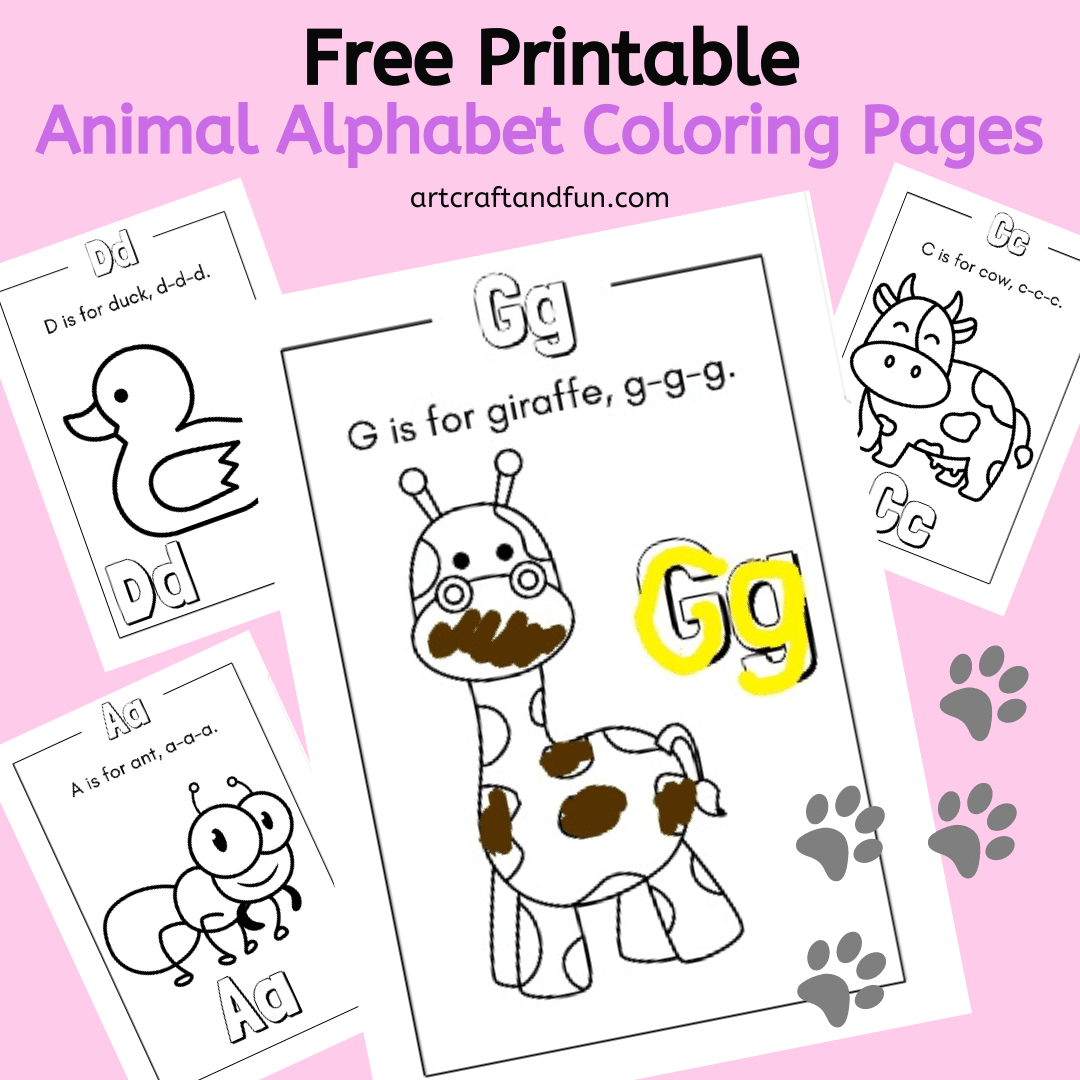 Free Printable Animal Alphabet Coloring Pages